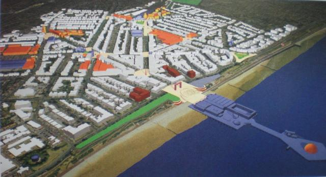 cad 3d model of town development scheme