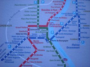 tram lignes of bordeaux